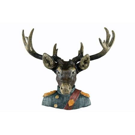 Oh Trendy Deer Head Wall Mount In Solr Uniform Faux