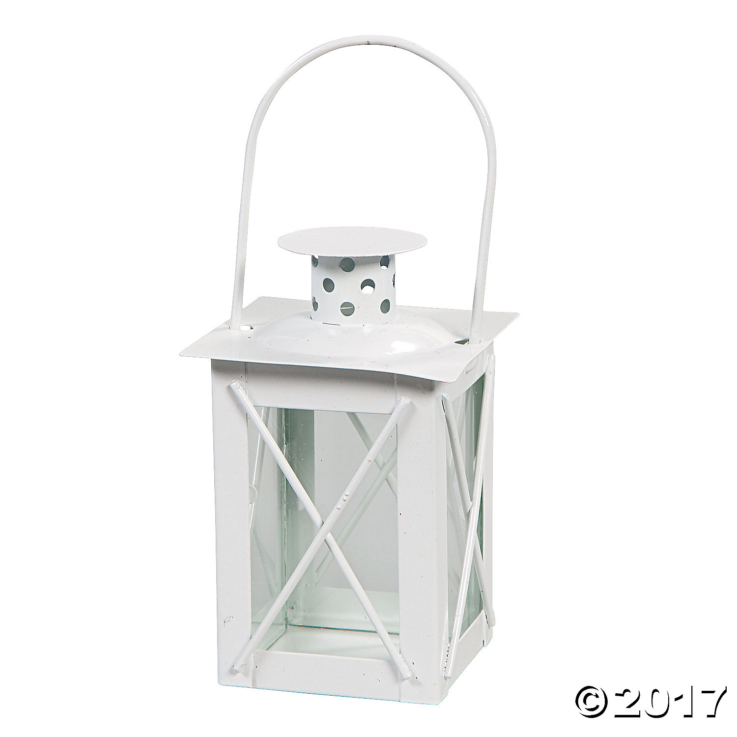 White Metal Mini Lantern