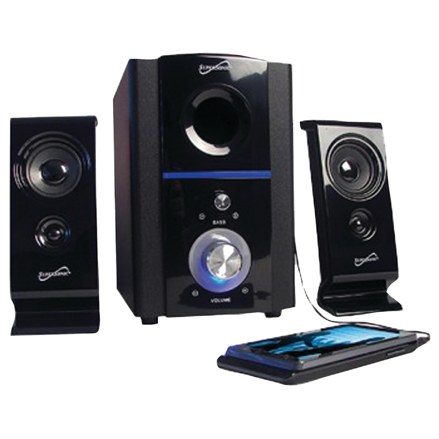 Supersonic SC-1120 2.1 Multimedia Speaker System