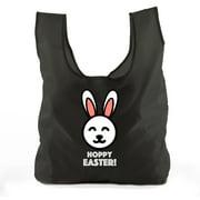 Easter Basket Bags, Bulk Reusable Grocery Bags, Easter Egg Hunt Tote Bags - Hoppy Easter