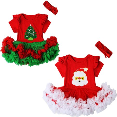 Santa Claus Outfit For Toddler (Newborn Baby Girl Christmas Santa Claus Tulle Tutu Dress Outfits Warm)
