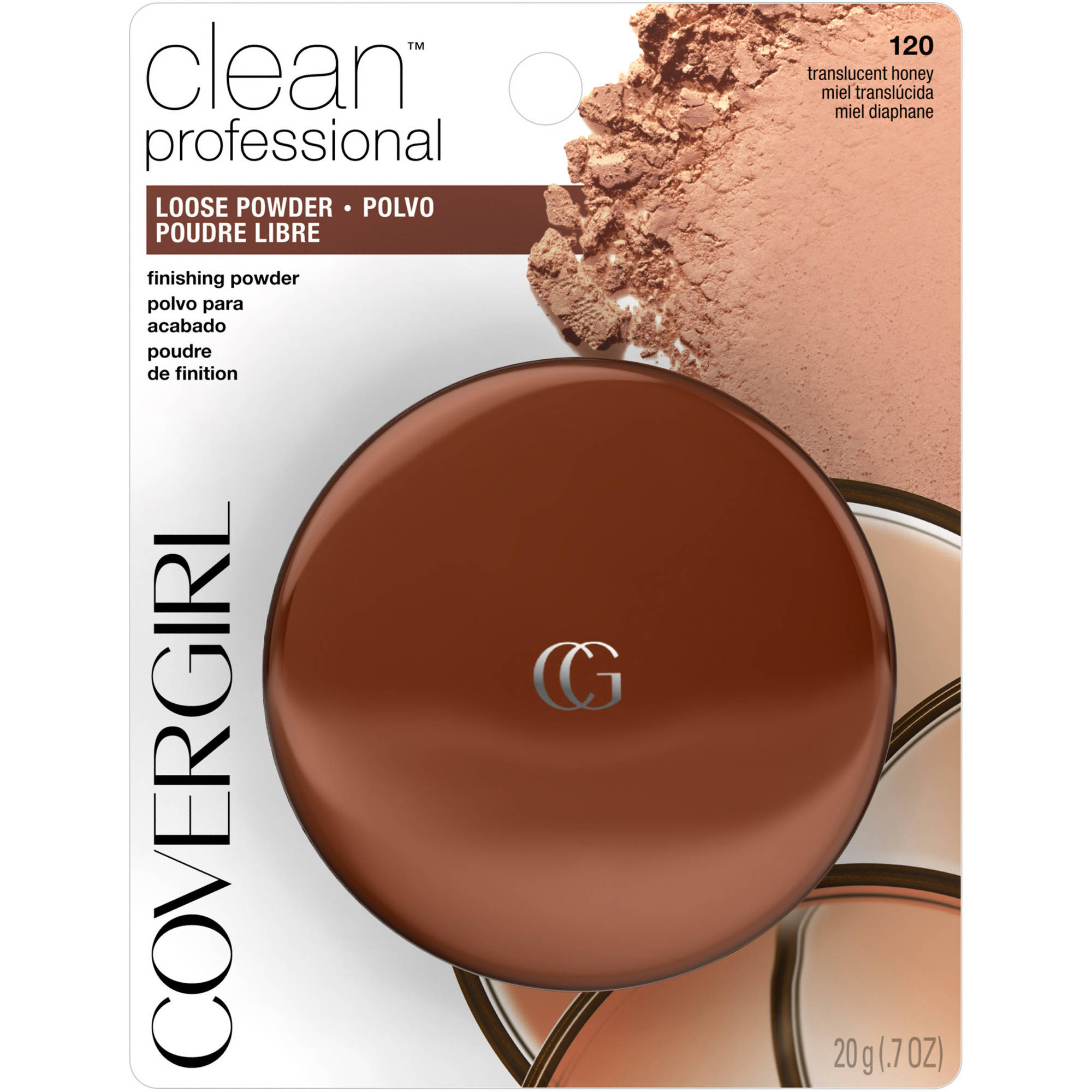 COVERGIRL Professional Translucent Face Powder Translucent Honey 120, 0.7 oz