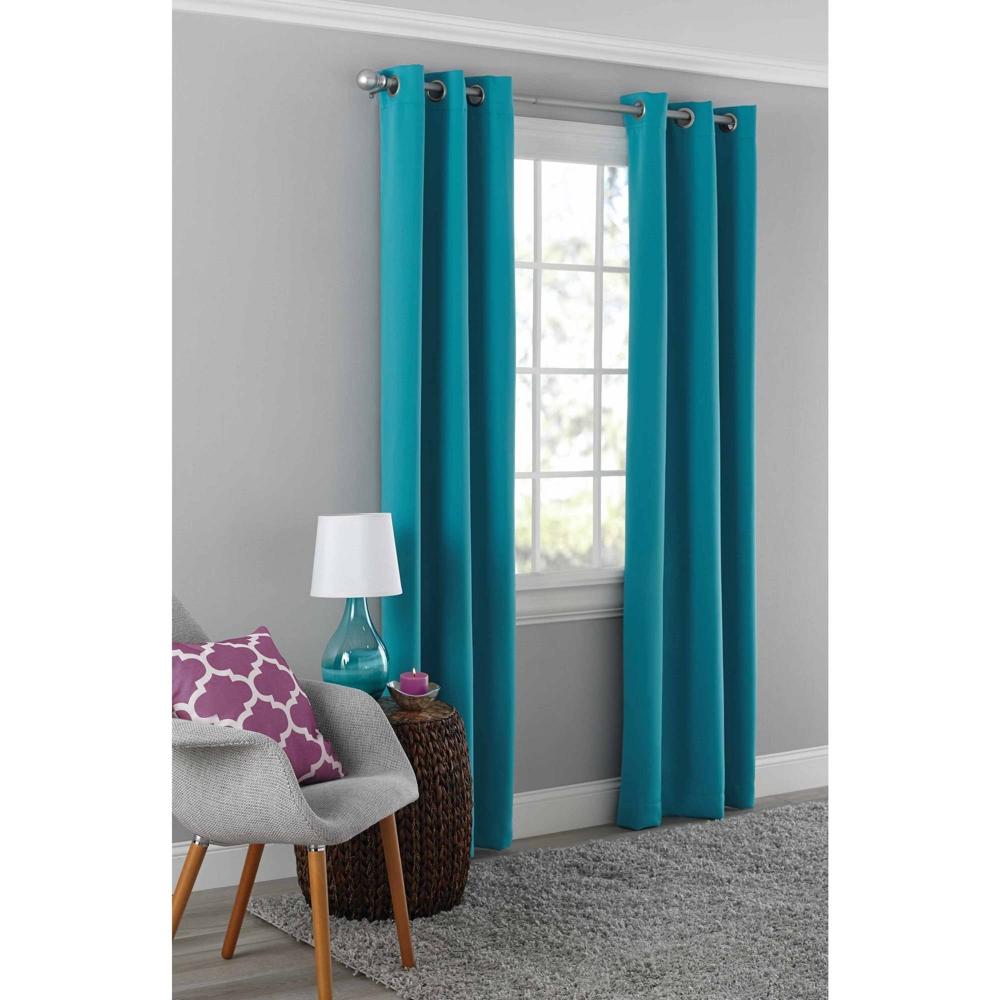 mainstays blackout energy efficient grommet curtain panel
