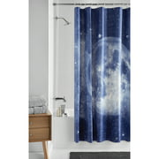 Mainstays Navy Moon PEVA Shower Curtain