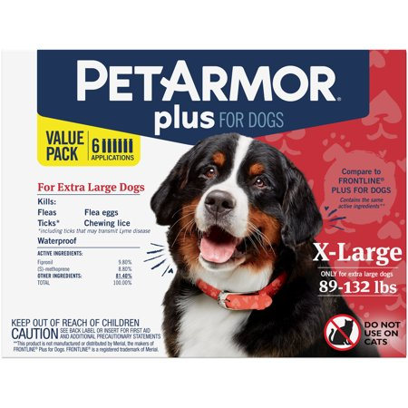 PetArmor Plus Flea & Tick Prevention for Extra Large Dogs (89-132 lbs), 6