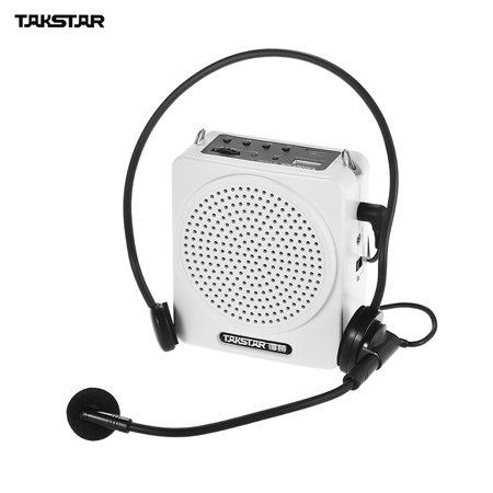 TAKSTAR E180M 12W Rechargeable Portable Multimedia Voice Amplifier Amp with Wired Microphone Supports USB & TF Card Music Playing for Tour Guides Teachers Presentations Market