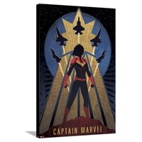Captain Marvel - Vintage Stretched Canvas Print Wall Art