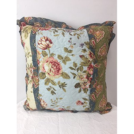 JCPenney Rosewood Quilted Floral and Paisley Throw Pillow 17