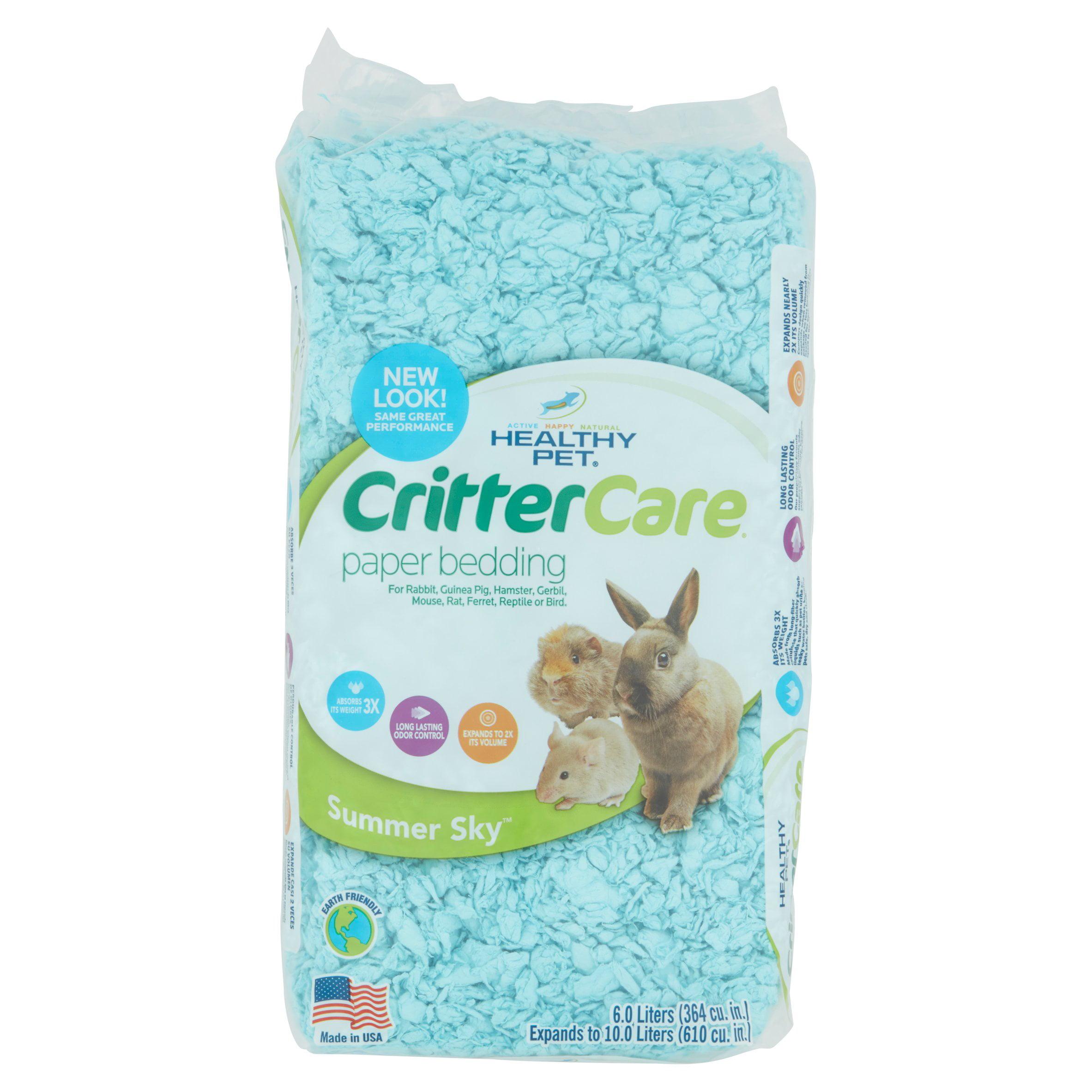 critter care colors small pet bedding - blue 10l - walmart