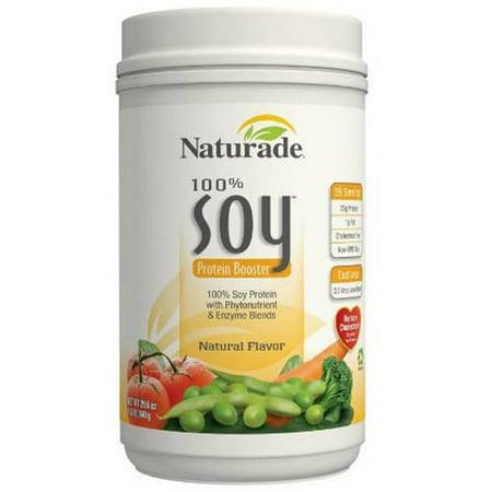 Naturade 100% de protéines de soja naturel Booster, 29,6 OZ