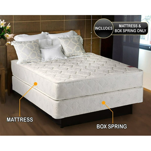 "American Legacy 7"" Innerspring Mattress and Box Spring Set, Queen"