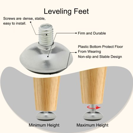 M8 x 10 x 30mm Furniture Glide Leveling Feet Adjustable Floor Protector 20pcs - image 4 of 7