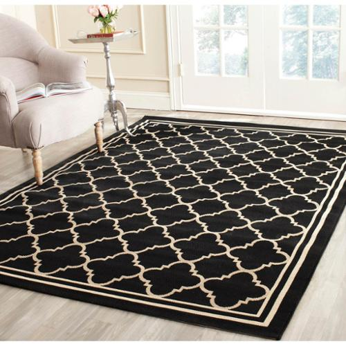 safavieh poolside black beige indoor outdoor rug 9u0027 x