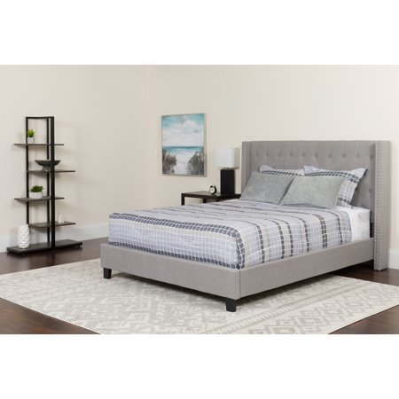 - Flash Furniture Riverdale Tufted Upholstered Platform Bed, Multiple Colors, Multiple Sizes
