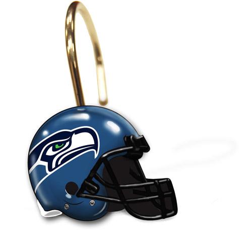 Seattle Seahawks Decorative Bath Collection - 12pc Shower Hooks