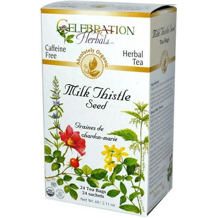 Celebration Herbals Milk Thistle Seed Herbal Tea Bags 24 Count Pack Of 3