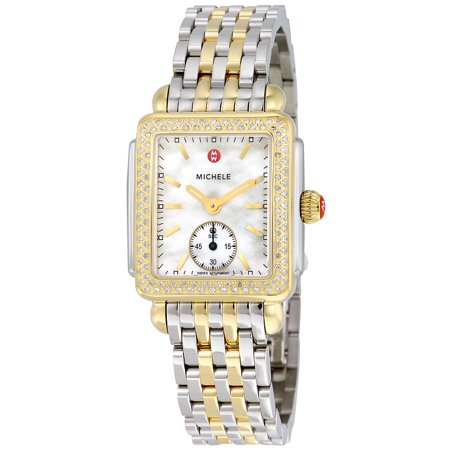 Michele Deco 16 White Mother of Pearl Dial Ladies Watch MWW06V000023