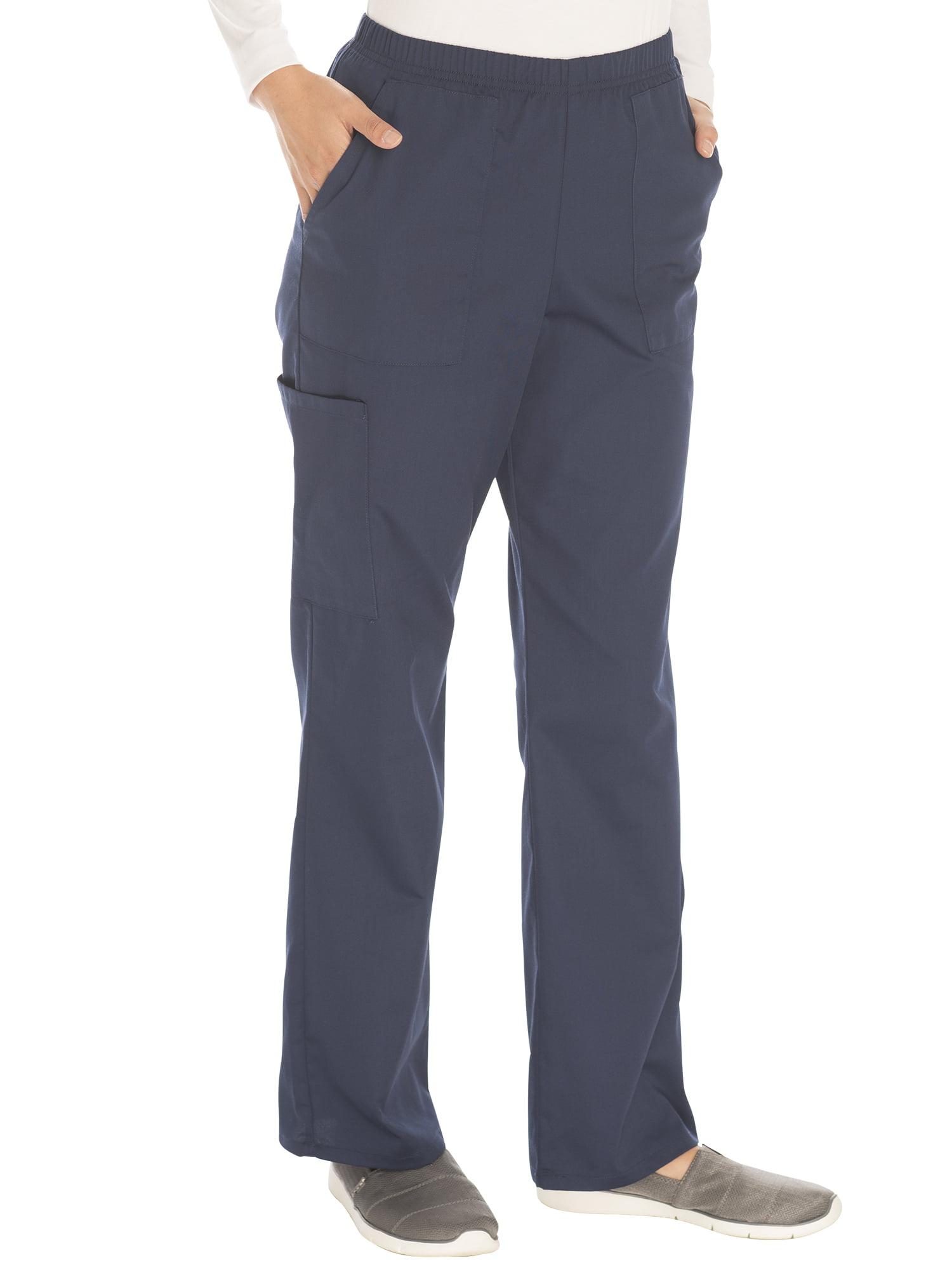 Scrubstar Women's Petite Core Essentials Mechanical Stretch Pull On Scrub Pant