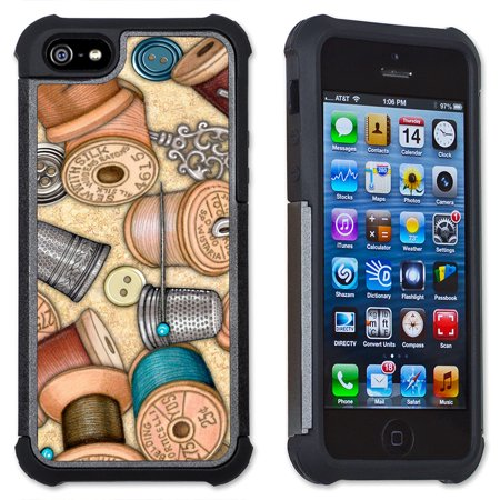Apple iPhone 6 Plus / iPhone 6S Plus Cell Phone Case / Cover with Cushioned Corners - Sewing Thread ()