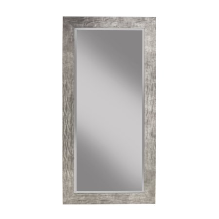 "Hammered Metal Full Length 65""x31"" Leaner Mirror"