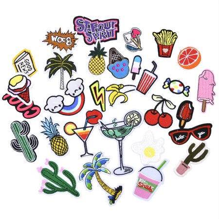 - Coxeer 30 Pack Embroidered Patch Iron-on or Sew-on Badge Motif Applique for Jeans Shirts & Pants