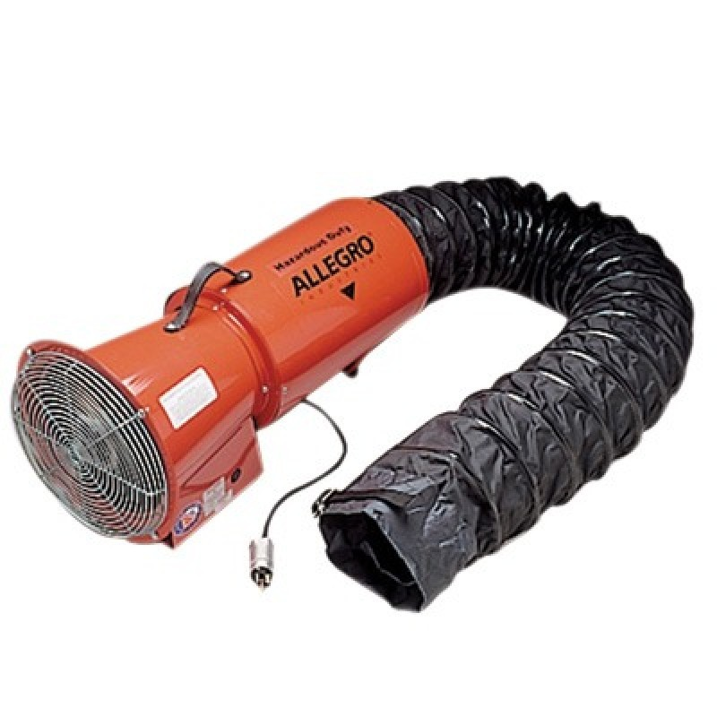 """Allegro 9514€06 AC Axial Explosion Proof Blower 8"""" with 25' Canister"""