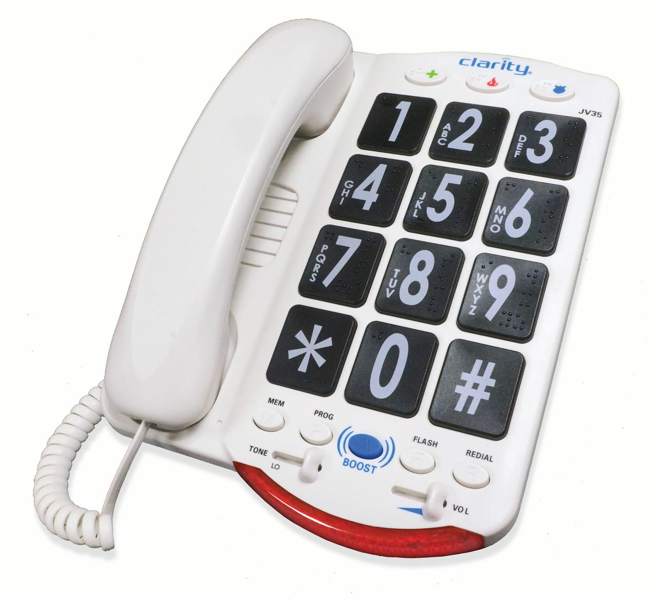 Clarity 76560.000 JV35 Moderate Hearing Loss Amplified Corded Phone