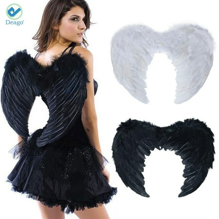 Deago Feather Angel Wings Christmas Festival Fancy Dress Hen Night Party Costumes (17.7