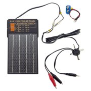 3, 6, 9, and 12 Volt Device Solar Charger with AA and 9 Volt Battery Charger