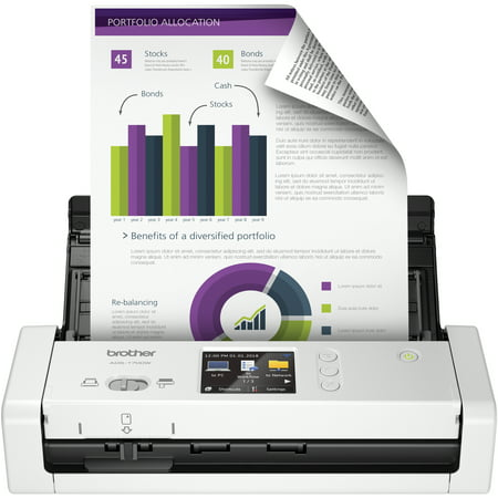 Brother Desktop Scanner, ADS-1700W, Color Scanning, Compact, Wireless Connectivity