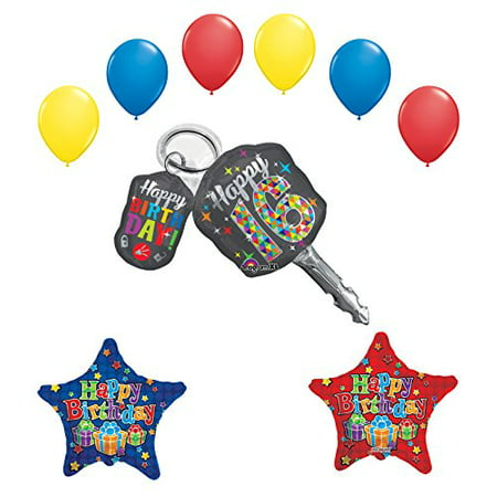 Sweet 16 Birthday Party Supplies Car Keys Balloon Bouquet Decorations