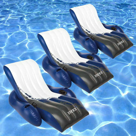 - Intex Floating Recliner Inflatable Lounge for Swimming Pools, Pack of 3