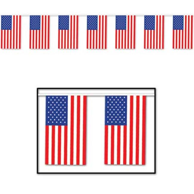 Beistle - 50710 - Outdoor American Flag Banner- Pack of 12
