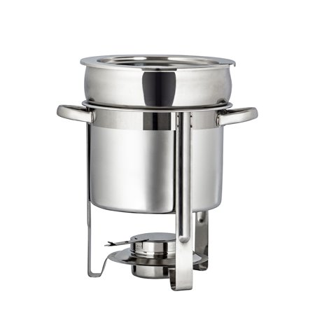 Burners For Chafing Dishes (UBesGoo 7.4 Qt/ 7L Stainless Steel Soup Warmer Chafing Dish Dishes, Complete Full Size Chafer Chafers Buffet Set, Food Warmers for Parties,)