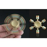 Luxury Metallic 6 Sided Anti Stress Fidget Spinner - Gold