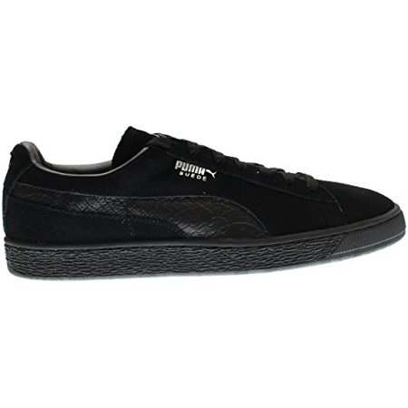 official photos 814f5 74434 PUMA 363164-06 : Men's Suede Classic Mono Reptile Fashion Sneaker, Black