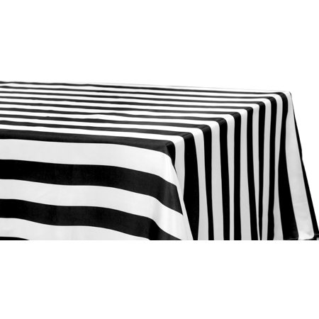 Stripe Satin Rectangular Tablecloth 90