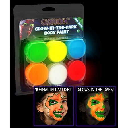 Glow In The Dark Body Paint Set of 6 by Blinkee - Glow In The Dark Body Paint