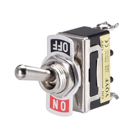 Lacthing Rocker Toggle Switch 2 Positions Heavy-Duty 2A 250V/5A 125V 2 Pin SPST ON/OFF 2 Pcs - image 2 of 3