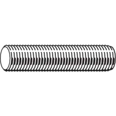 "FABORY 1""-8 x 1' Plain Low Carbon Steel Threaded Rod, U20200.100.1200"