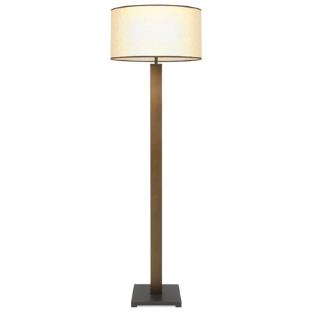Best Choice Products 60in Modern Luxury Lighting Column Floor Lamp for Living Room, Bedroom w/ Square Base - Bronze