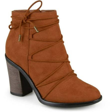 - Women's High Heeled Round Toe Chunky Heel Booties