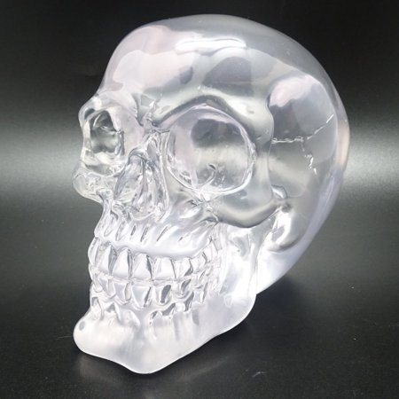 Translucent Clear Skull Gothic Halloween Decor 3.5 Inches Tall (Gothic Halloween Decor)