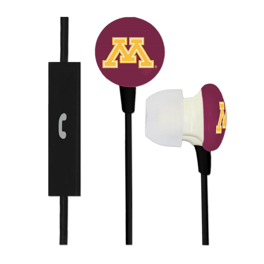 Minnesota Golden Gophers Ignition Earbuds + Mic - Black