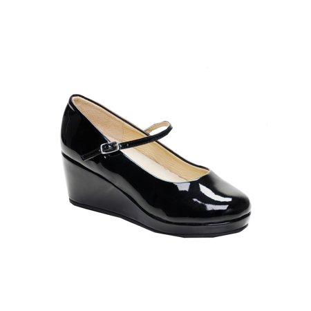 Pazitos Girls Black Patent 11/4