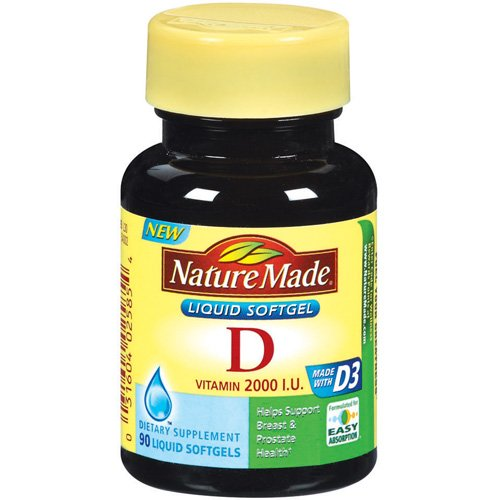 Nature Made: Vitamin D 2000 I.U. Liquid Softgels Dietary Supplement, 90 Ct