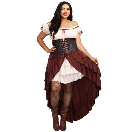 Saloon Gal Plus Size Costume](Plus Size Saloon Girl)