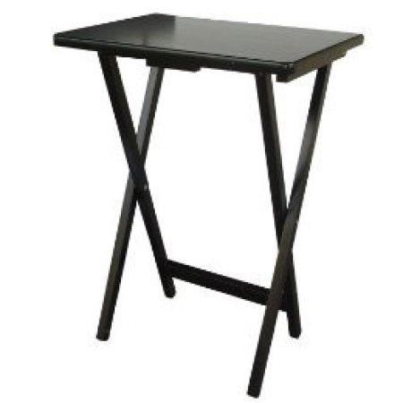 Mainstays Single Tray Table Black