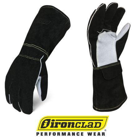 IronClad MIG Welder Premium Buffalo Cowhide Leather Welding Gloves - (Ironclad General Utility Gloves)