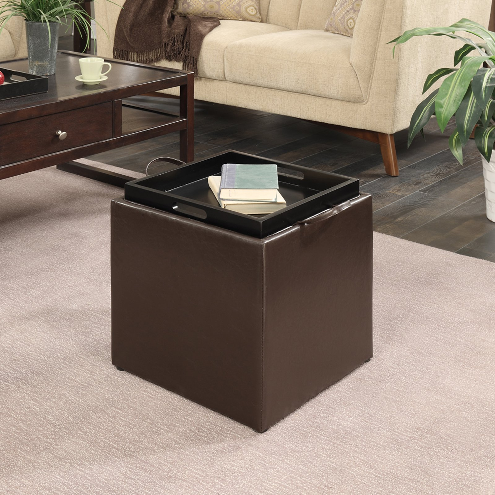 Convenience Concepts Designs4 fort Park Avenue Storage Ottoman